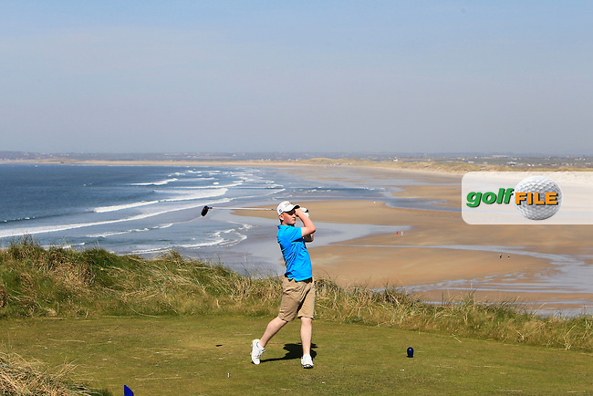 Dale Jackson (Massereene) during Round 2 of the 54 hole Stroke Play on April 9th 2015 for the 2015 Munster Youths' Open Championship, Tralee Golf Club, Tralee, Co.Kerry Ireland.<br /> Picture: Thos Caffrey / Golffile