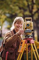 Surveyor Michelle Vlah, University of Alaska, Fairbanks