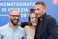 Michael R. Roskam , Adele Exarchopoulos and Matthias Schoenaerts during the 'Le Fidèle' photocall at the 74th Venice International Film Festival at the Palazzo del Casino on September 08, 2017 in Venice, Italy