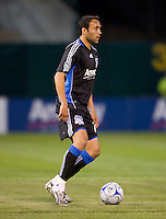 18 April 2009: Ramiro Corrales of the Earthquakes in action during the game against Los Angeles Galaxy at Oakland-Alameda County Coliseum in Oakland, California.   Earthquakes and Galaxy are tied 1-1.