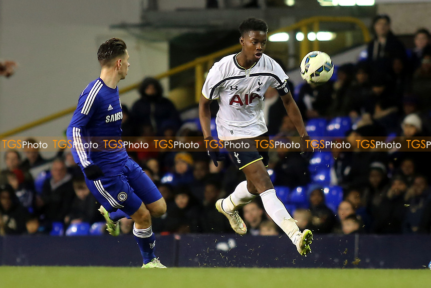Joshua Onomah of Tottenham shows his skills - Tottenham Hotspur Youth vs Chelsea Youth - FA Youth Cup Semi-Final 1st Leg Football at White Hart Lane, Tottenham, London - 05/03/15 - MANDATORY CREDIT: Paul Dennis/TGSPHOTO - Self billing applies where appropriate - contact@tgsphoto.co.uk - NO UNPAID USE