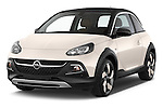 2015 Opel Adam Rocks 3 Door Hatchback angular front stock photos of front three quarter view