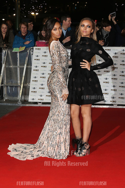 Leigh-Anne Pinnock, Jade Thirlwall, Little Mix arriving for The MOBO Awards 2014 held at Wembley Arena, London. 22/10/2014 Picture by: James Smith / Featureflash