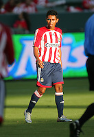Chivas USA forward Ramon Nunez (8) looking to get open. CD Chivas USA beat Real Salt Lake 1-0 in a MLS game at the Home Depot Center in Carson, California, Sunday, August 26, 2007.