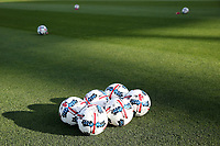 San Jose, CA - Saturday May 06, 2017: Soccer balls prior to a Major League Soccer (MLS) match between the San Jose Earthquakes and the Portland Timbers at Avaya Stadium.