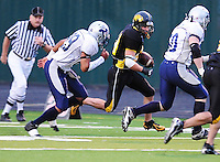 The Madison Mustangs win the Iron Bowl 23-13 against the Roscoe Rush on Saturday, September 6, 2008 at Middleton High School's Breitenbach Stadium in Middleton, Wisconsin