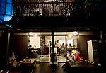 Customers enjoy the organic fare available at Nomin Cafe in Shimokitazawa in Setagaya Ward, Tokyo, Japan..Photographer: Robert Gilhooly