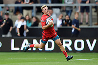 Dom Coetzer of Gloucester Rugby runs in a try. Premiership Rugby 7s (Day 2) on July 28, 2018 at Franklin's Gardens in Northampton, England. Photo by: Patrick Khachfe / Onside Images