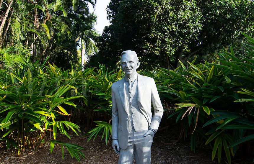Henry Ford automobile and Ford home and museum in Ft Myers Florida statue of man