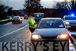 Garda Murial O'Riordan manning a Checkpoint in Tralee.