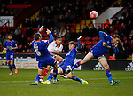 Che Adams of Sheffield Utd takes  shot on goal - FA Cup Second round - Sheffield Utd vs Oldham Athletic - Bramall Lane Stadium - Sheffield - England - 5th December 2015 - Picture Simon Bellis/Sportimage