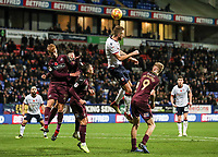 Bolton Wanderers' Mark Beevers heads<br /> <br /> Photographer Andrew Kearns/CameraSport<br /> <br /> The EFL Sky Bet Championship - Bolton Wanderers v Swansea City - Saturday 10th November 2018 - University of Bolton Stadium - Bolton<br /> <br /> World Copyright © 2018 CameraSport. All rights reserved. 43 Linden Ave. Countesthorpe. Leicester. England. LE8 5PG - Tel: +44 (0) 116 277 4147 - admin@camerasport.com - www.camerasport.com