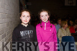Chloe and Rachel Deniel of Firies attending the Castleisland Presentation Schools Talent show last Thursday.
