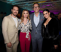 LOS ANGELES, CA - FEBRUARY 6: L-R: THE PASSAGE cast members Mark-Paul Gosselaar and Brianne Howey, CEO, FOX Entertainment Charlie Collier, and THE PASSAGE cast member Emmanuelle Chriqui attends the FOX Winter TCA 2019 All Star Party at The Fig House on February 6, 2019 in Los Angeles, California. (Photo by Frank Micelotta/Fox/PictureGroup)