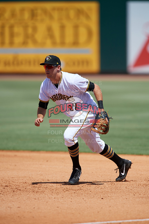 Bradenton Marauders first baseman Will Craig (22) during a game against the Charlotte Stone Crabs on April 9, 2017 at LECOM Park in Bradenton, Florida.  Bradenton defeated Charlotte 5-0.  (Mike Janes/Four Seam Images)