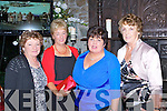 Kathleen O'Donoghue, Geraldine O'Donoghue, Noreen Riordan and Mary O'Sullivan catching up on old times at the Glenflesk 1988 O'Donoghue Cup winning team reunion in the Muckross Park Hotel Killarney on Saturday night