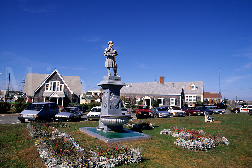 Martha Vineyard Massachusetts MA USA Edgartown Church and Police.