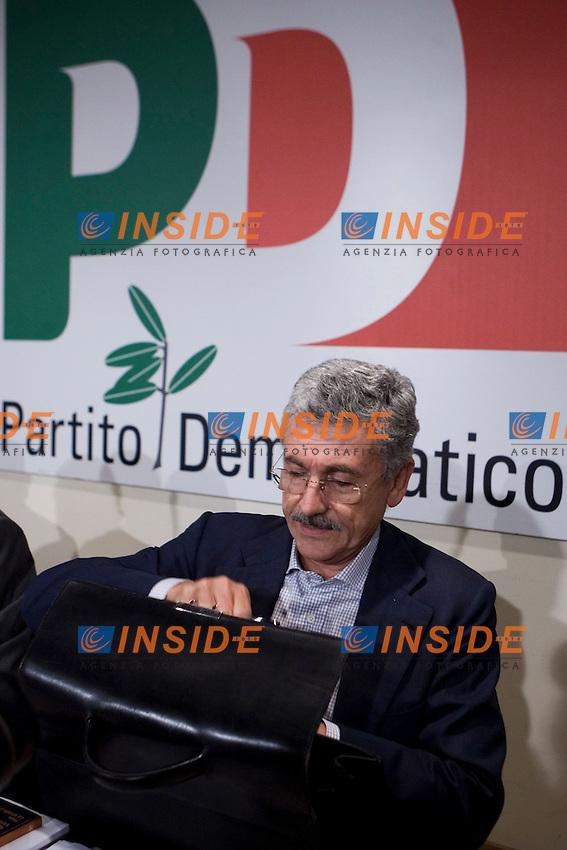 MASSIMO D ALEMA AL SEMINARIO DEL PARTITO DEMOCRATICO SULLA SOCIAL DEMOCRAZIA..ROMA 26 SETTEMBRE  2011..PHOTO  INSIDEFOTO..............................