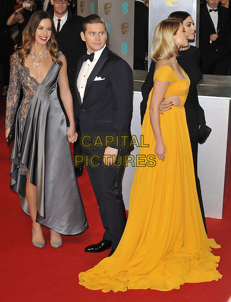 LONDON, ENGLAND - FEBRUARY 08: Charlie Webster, Allen Leech, Lea Seydoux &amp; Monica Bellucci attend the EE British Academy Film Awards 2015, Royal Opera House, Covent Garden, on Sunday February 08, 2015 in London, England, UK. <br /> CAP/CAN<br /> &copy;Can Nguyen/Capital Pictures