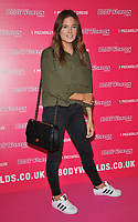 """Alexandra """"Binky"""" Felstead at the Bodyworlds human anatomy exhibition VIP launch, The London Pavilion, Piccadilly Institute, London, England, UK, on Thursday 04 October 2018.<br /> CAP/CAN<br /> ©CAN/Capital Pictures"""