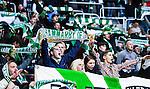 Stockholm 2014-05-04 Fotboll Superettan Hammarby IF - IFK V&auml;rnamo :  <br /> Hammarby supporter med en halsduk<br /> (Foto: Kenta J&ouml;nsson) Nyckelord:  Superettan Tele2 Arena Hammarby HIF Bajen V&auml;rnamo  supporter fans publik supporters