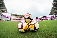Orlando, FL - Wednesday June 27, 2018:  NWSL NIKE Balls at Orlando City Stadium, Orlando Pride vs Houston Dash at Orlando City Stadium.