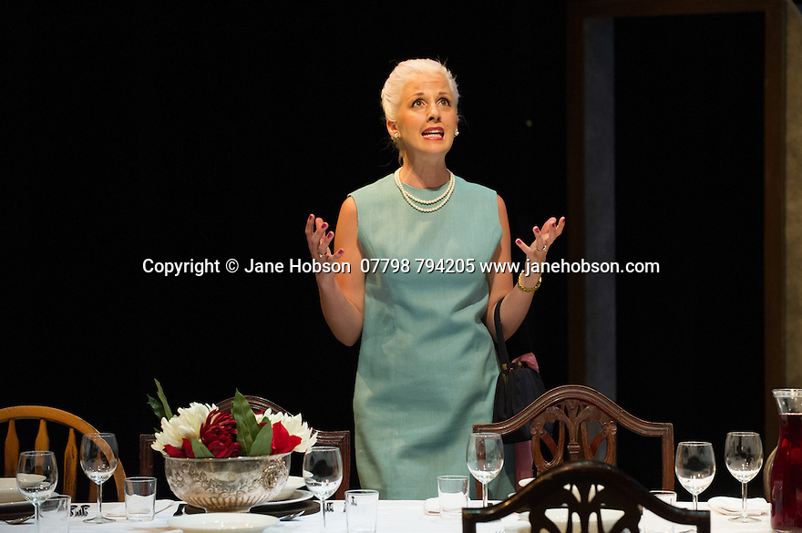 London, UK. 18.07.2014. Mountview Academy of Theatre Arts presents SATURDAY, SUNDAY, MONDAY by Eduardo de Filippo, the English adaptation by Keith Waterhouse & Willis Hall, directed by Michael Howcroft, at the Unicorn Theatre, as part of the Postgraduate Season 2014. Picture shows: Alexandria Bull (Elena Ianiello).  Photograph © Jane Hobson.