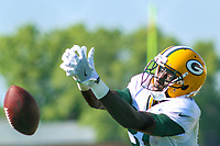 Green Bay Packers wide receiver Geronimo Allison (81) during a training camp practice on August 1, 2017 at Ray Nitschke Field in Green Bay, Wisconsin.  (Brad Krause/Krause Sports Photography)