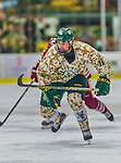 25 November 2014: University of Vermont Catamount Defenseman Yvan Pattyn, a Junior from St. Anne, Manitoba, in action against the University of Massachusetts Minutemen at Gutterson Fieldhouse in Burlington, Vermont. The Cats defeated the Minutemen 3-1 to sweep the 2-game, home-and-away Hockey East Series. The 12th ranked Catamounts wore their camouflage uniforms for the evening to honor the US military. Mandatory Credit: Ed Wolfstein Photo *** RAW (NEF) Image File Available ***