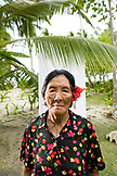 INDONESIA, Mentawai Islands, Kandui Resort,  portrait of a Mentawai elder with tattos named Tatiana