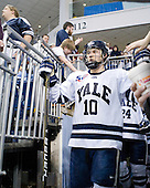 Kevin Limbert (Yale - 10) - The Yale University Bulldogs defeated the Air Force Academy Falcons 2-1 (OT) in their East Regional Semi-Final matchup on Friday, March 25, 2011, at Webster Bank Arena at Harbor Yard in Bridgeport, Connecticut.