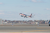 President-elect Trump's private plane lifts off from the tarmac at Laguardia Airport as Mr. Trump departs for a series of visits to Indianapolis and Cincinnati, in New York, NY, USA on December 1, 2016. <br /> Credit: Albin Lohr-Jones / Pool via CNP