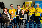 Pictured at the launch of Darkness into Light at Moyderwell, Tralee on Tuesday evening last were l-r: Elma Walsh, Colin Aherne (Director Darkness into Light) Eddie Murphy (Psychologist on RTE's Operation Transformation programme) Nora Conway, Stephanie Turner, Martin Brosnan, Marilyn O'Shea, Aidan O'Sullivan and Danny O'Shea.