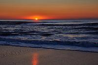 Sunrise view from Kure Beach, North Carolina
