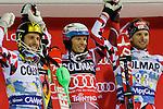 FIS Alpine Ski World Cup Men's Slalom in Madonna di Campiglio, on December 22, 2015. Norway's Henrik Kristoffersen wins ahead of Marcel Hirscher and Marco Schwarz.