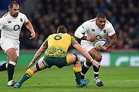 Kyle Sinckler of England takes on the Australia defence. Quilter International match between England and Australia on November 24, 2018 at Twickenham Stadium in London, England. Photo by: Patrick Khachfe / Onside Images