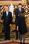 King Felipe VI of Spain meeting with the president of the Portuguese Republic, Sr. Marcelo Rebelo De Sousa at Real Palace in Madrid March 17,2016. (ALTERPHOTOS/Borja B.Hojas)
