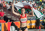 Wales Olivia Breen (para) celebrates winning Gold in the  Woman's T38 Long Jump Final <br /> <br /> *This image must be credited to Ian Cook Sportingwales and can only be used in conjunction with this event only*<br /> <br /> 21st Commonwealth Games - Athletics -  Day 4 - 08\04\2018 - Carrara Stadium  - Gold Coast City - Australia