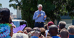 Crowds of people gathered at Marsh Elementary School for a Get Out The Vote Rally with President Bill Clinton to rally for Hillary Clinton in Antioch, California on Monday, June 6, 2016.  Photo/Victoria Sheridan