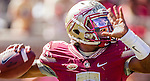 Florida State quarterback Everett Golson throws in the first half of an NCAA college football game against Louisville in Tallahassee, Fla., Saturday, Oct. 17, 2015. (AP Photo/Mark Wallheiser)
