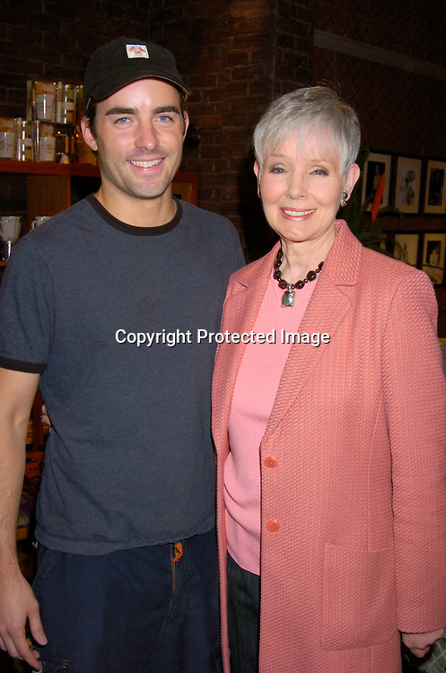 Chris Beetem and Kathryn Hays..at the As The World Turns 48th Anniversary party on the set on April 2,  2004. Photo by Robin Platzer, Twin Images