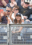 Mai Tanaka, JULY 9, 2015 - MLB : Mai Tanaka, wife of Masahiro Tanaka of the New York Yankees cheers during a baseball game against the Oakland Athletics at Yankee Stadium in New York, United States. (Photo by AFLO)