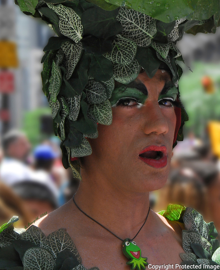 New York City Gay Pride Parade, Flamboyant Greenery<br /> <br /> CLICK ON ADD TO CART ABOVE TO SEE AVAILABLE STYLES, SIZES AND PRICES