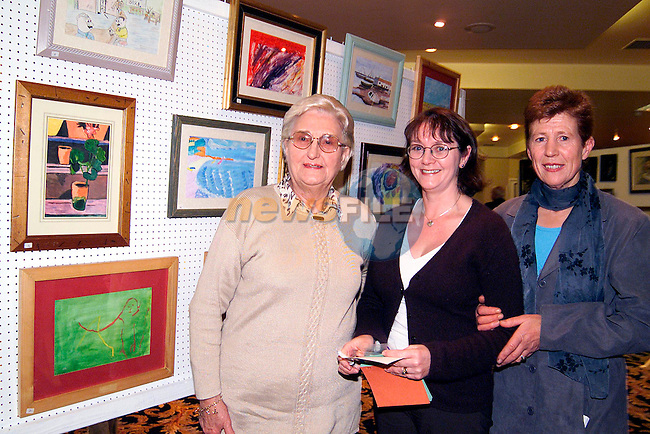Betty Conaghan, Mary Lawlor and Anne Floody at the Knights of Malta art exhibition in the Neptune Hotel..Picture: Paul Mohan/Newsfile