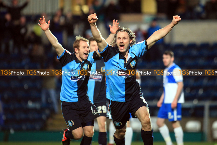 Wycombe's Player/Manager Gareth Ainsworth celebrates scoring his goal - Wycombe Wanderers vs Bristol Rovers - NPower League Two Football at Adam Park, High Wycombe - 01/12/12 - MANDATORY CREDIT: Paul Dennis/TGSPHOTO - Self billing applies where appropriate - 0845 094 6026 - contact@tgsphoto.co.uk - NO UNPAID USE.