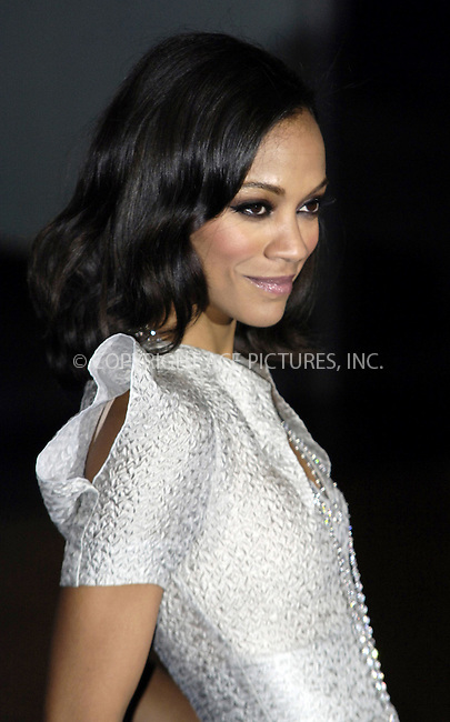 WWW.ACEPIXS.COM . . . . .  ..... . . . . US SALES ONLY . . . . .....December 10 2009, London....Zoe Saldana arriving at the World Premiere of Avatar at Odeon Leicester Square on December 10, 2009 in London, England. ......Please byline: FAMOUS-ACE PICTURES... . . . .  ....Ace Pictures, Inc:  ..tel: (212) 243 8787 or (646) 769 0430..e-mail: info@acepixs.com..web: http://www.acepixs.com