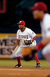 29 June 2005: Junior Spivey, infielder for the Washington Nationals, stands ready at second base during a game against the Pittsburgh Pirates. The Nationals rallied to defeat the Pirates 3-2 in a rain delayed game at RFK Stadium in Washington, DC.  Mandatory Photo Credit: Ed Wolfstein
