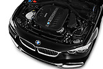 Car stock 2020 BMW 4 Series 430i Coupe 2 Door Coupe engine high angle detail view