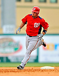 3 March 2011: Washington Nationals' catcher Derek Norris in action during a Spring Training game against the St. Louis Cardinals at Roger Dean Stadium in Jupiter, Florida. The Cardinals defeated the Nationals 7-5 in Grapefruit League action. Mandatory Credit: Ed Wolfstein Photo