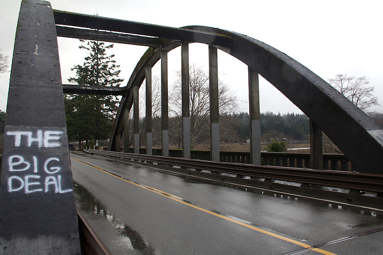 Highway 101, Duckabush River, 1934 Duckabush River Bridge, Jefferson County, Olympic Peninsula, Washington State, December 11, 2014,